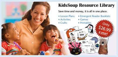 KidsSoup Resource Library Activities for preschool teachers
