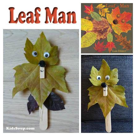 leaf man craft and activity for preschool and kindergarten