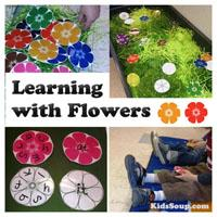 Preschool Kindergarten Learning with Flowers Lesson and Activities