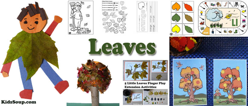 Leaves activities and crafts for preschool and kindergarten