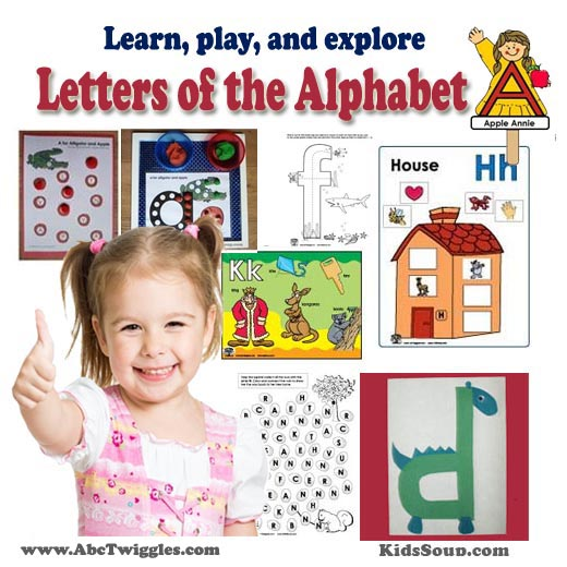 Letters of the Alphabet activities, games, and crafts for preschool