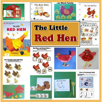 Preschool Kindergarten The Little Red Hen Activities and Crafts