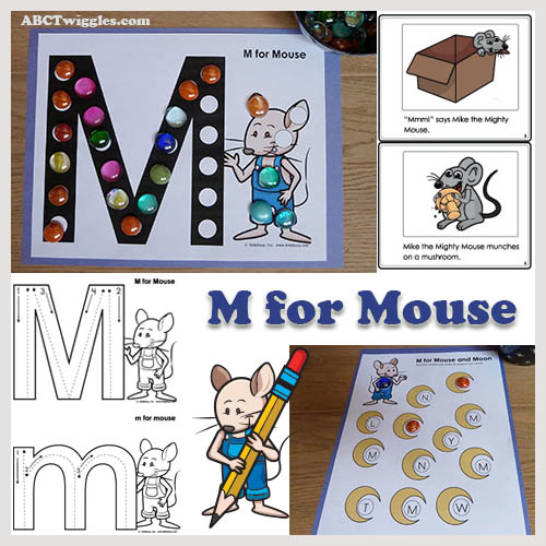 M for mouse preschool letter m activities and printable