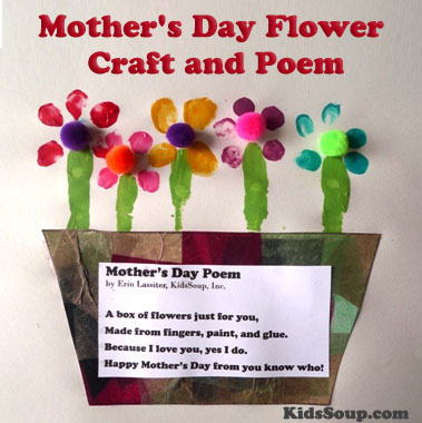 Mother S Day Flower Craft And Poem Kidssoup
