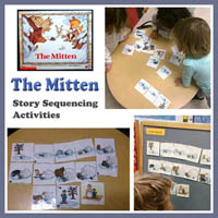 The Mitten Story Sequencing Skills Preschool Lesson