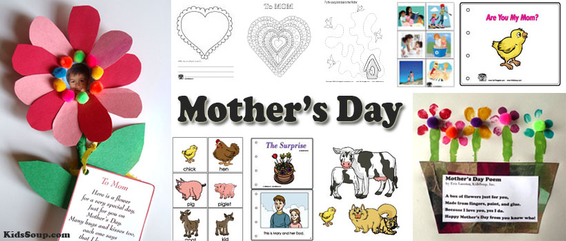 Mother's Day preschool and kindergarten activities and crafts