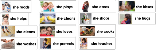 Mothers' Day word wall cards and activities for preschool and kindergarten