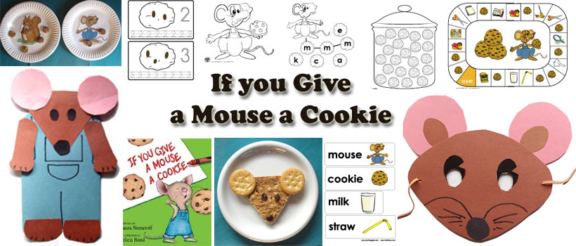 If You Give a Mouse a Cookie Preschool Activities and Crafts – If You Give a Mouse a Cookie Worksheets