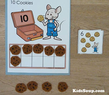 Mouse cookies math preschool and kindergarten activities and number sense