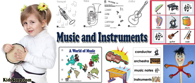 Music Instruments Preschool Activities Crafts Lessons And. Music Instruments Preschool Activities Crafts Lessons And Printables Kidssoup. Worksheet. Music Worksheets For Pre K At Clickcart.co