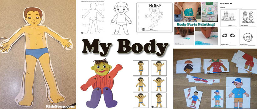 My Body Activities Crafts And Lessons For Preschool Kindergarten