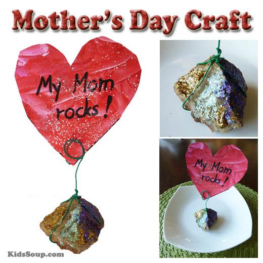 My Mom Rocks Mother S Day Craft Kidssoup