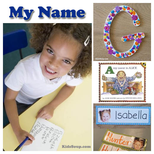 Letters in my name activities and games for preschool and kindergarten