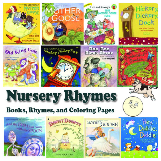 Nursery Rhymes Books Coloring Pages And Songs