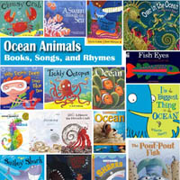 Preschool Kindergarten Ocean Animals Books and Rhymes