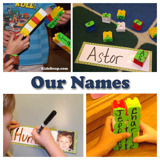 Our names letter activities and games for preschool and kindergarten