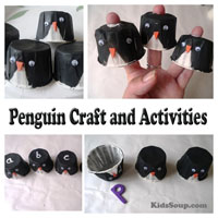 Preschool Kindergarten Penguin Craft and Activities