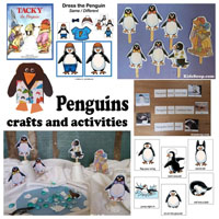 Preschool Kindergarten Penguins Activities, Crafts, and Lesson