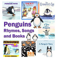 Penguins Books, Rhymes, and Songs