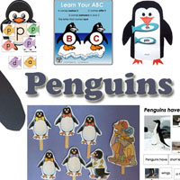 Penguins preschool and kindergarten activities and crafts