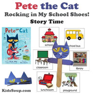 Back to School with Pete the Cat Activities and Crafts