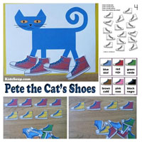 Preschool Kindergarten Pete the Cat's Shoes Activities