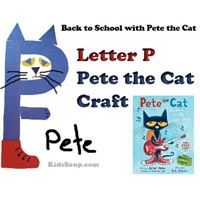 Preschool Kindergarten Letter P for Pete the Cat Craft