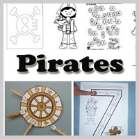 Preschool and kindergarten Pirates Activities and Crafts