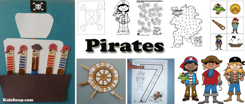 Pirates Activities Crafts Games Printables For Preschool And Kinder