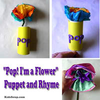 Preschool Kindergarten Flower Craft and Rhyme