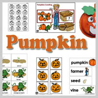 Preschool Kindergarten Pumpkins Activities and Crafts