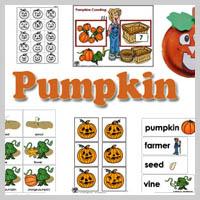 Preschool Kindergarten Pumpkins Activities and Crafts