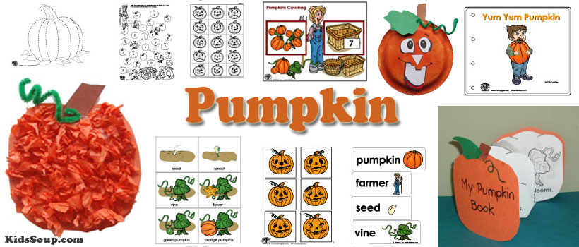 Pumpkin Activities, Lessons, Crafts for preschool and kindergarten