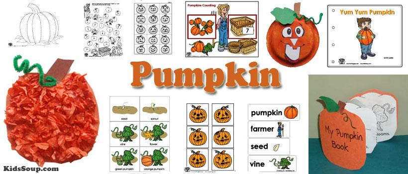 preschool and kindergarten pumpkin activities and games