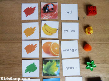 Rainbow colors activities and games for preschool and kindergarten