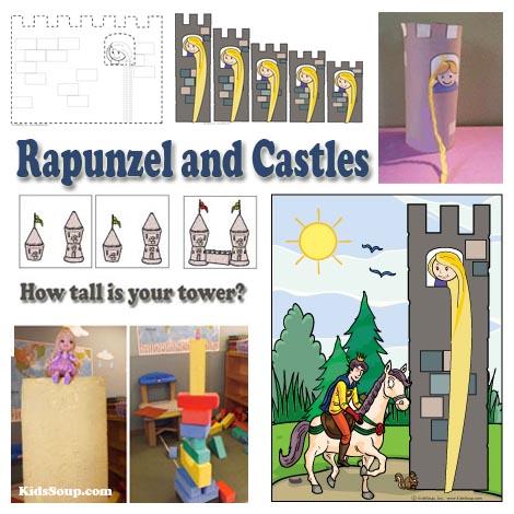 Rapunzel fairy tale preschool crafts, activities, and printables