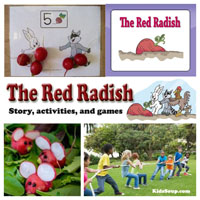 Preschool, Kindergarten, The Red Radish Book and Activities