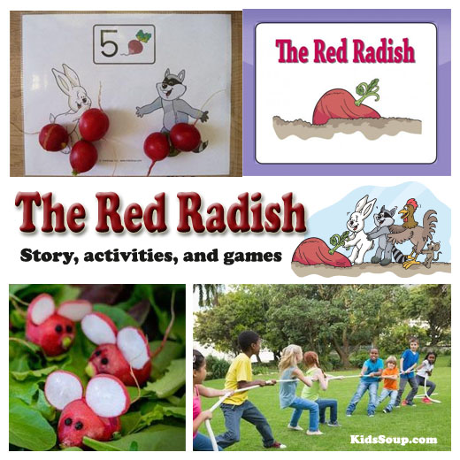 The Red Radish activities and games for preschool and kindergarten
