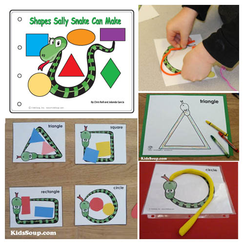Sally Snake Preschool Shapes Activities and Games