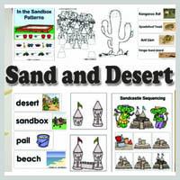 Preschool and kindergarten Sand and Desert Activities and Crafts