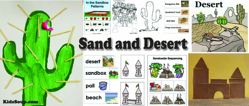 Sand and desert activities, lessons, and games for preschool