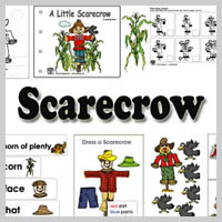 Preschool Kindergarten Scarecrow Activities and Crafts
