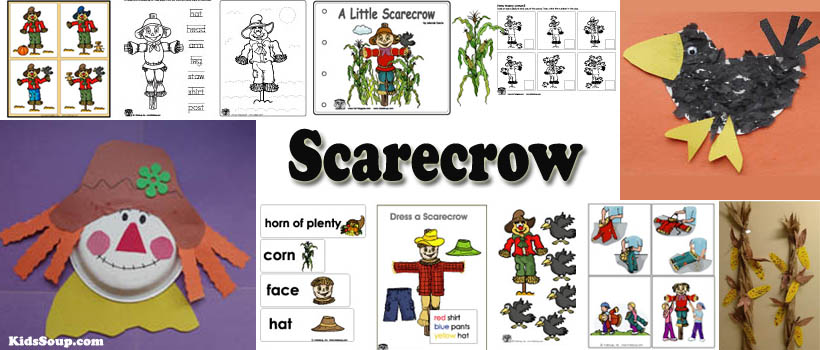 Preschool and kindergarten scarecrow and harvest activities and crafts