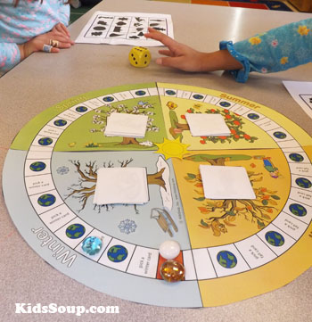 Four seasons game preschool and kindergarten