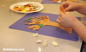 four season tree craft preschool and kindergarten