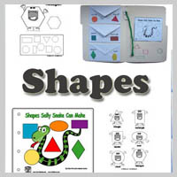 Preschool, kindergarten, Shapes Activities, Crafts and Printables