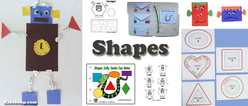 preschool and kindergarten shapes activities and games