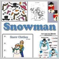 Preschool and Kindergarten Snowman Activities and Crafts