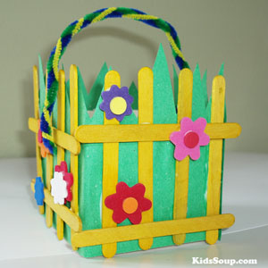 Spring Garden craft for preschool and kindergarten