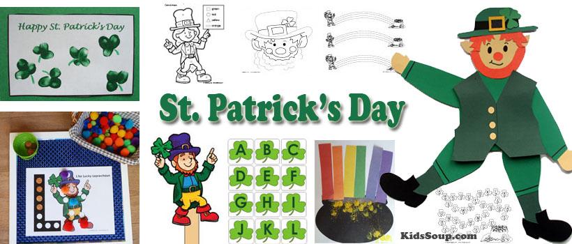 Preschool and kindergarten St. Patrick's Day activities and crafts